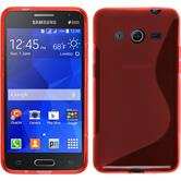 Silikon Hülle Galaxy Core 2 S-Style rot