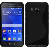 Silikonhülle für Samsung Galaxy Core 2 S-Style schwarz