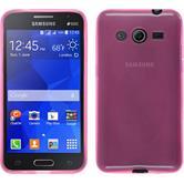Silikon Hülle Galaxy Core 2 transparent rosa