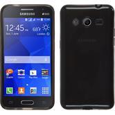 Silikonhülle für Samsung Galaxy Core 2 transparent schwarz