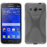 Silikon Hülle Galaxy Core 2 X-Style clear + 2 Schutzfolien