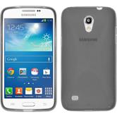 Silikon Hülle Galaxy Core Lite X-Style grau + 2 Schutzfolien