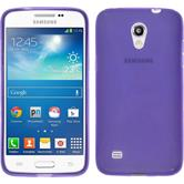 Silikon Hülle Galaxy Core Lite X-Style lila + 2 Schutzfolien