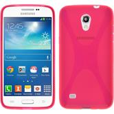 Silikon Hülle Galaxy Core Lite X-Style pink + 2 Schutzfolien