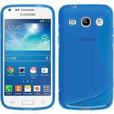 Silikon Hülle Galaxy Core Plus S-Style blau