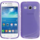 Silicone Case for Samsung Galaxy Core Plus S-Style purple