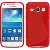 Silicone Case for Samsung Galaxy Core Plus S-Style red