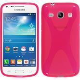 Silikonhülle für Samsung Galaxy Core Plus X-Style pink