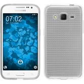 Silikon Hülle Galaxy Core Prime Iced clear + 2 Schutzfolien