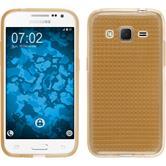 Silikon Hülle Galaxy Core Prime Iced gold + 2 Schutzfolien