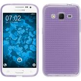 Silikon Hülle Galaxy Core Prime Iced lila + 2 Schutzfolien