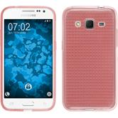 Silikon Hülle Galaxy Core Prime Iced rosa + 2 Schutzfolien