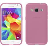 Silikon Hülle Galaxy Core Prime transparent rosa