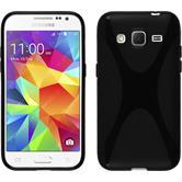 Silikon Hülle Galaxy Core Prime X-Style schwarz