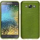 Silikon Hülle Galaxy E5 brushed pastellgrün + 2 Schutzfolien