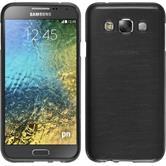 Silikonhülle für Samsung Galaxy E5 brushed silber