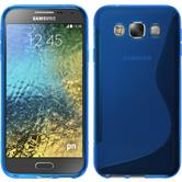 Silikonhülle für Samsung Galaxy E5 S-Style blau