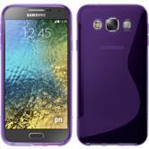 Silikonhülle für Samsung Galaxy E5 S-Style lila