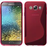 Silikon Hülle Galaxy E5 S-Style pink