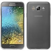 Silikon Hülle Galaxy E5 transparent weiß + 2 Schutzfolien