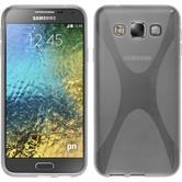 Silikon Hülle Galaxy E5 X-Style clear + 2 Schutzfolien