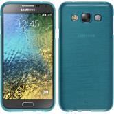 Silikonhülle für Samsung Galaxy E7 brushed blau