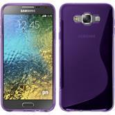 Silikon Hülle Galaxy E7 S-Style lila