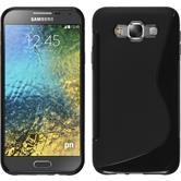 Silikon Hülle Galaxy E7 S-Style schwarz