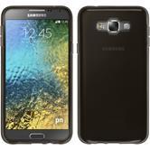 Silikon Hülle Galaxy E7 transparent schwarz