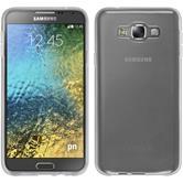 Silikon Hülle Galaxy E7 transparent weiß