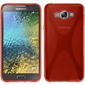 Silikon Hülle Galaxy E7 X-Style rot