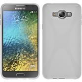 Silikon Hülle Galaxy E7 X-Style weiß
