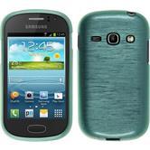 Silikon Hülle Galaxy Fame brushed grün + 2 Schutzfolien
