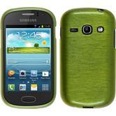 Silikon Hülle Galaxy Fame brushed pastellgrün + 2 Schutzfolien