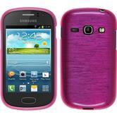 Silikon Hülle Galaxy Fame brushed pink + 2 Schutzfolien
