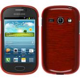 Silikon Hülle Galaxy Fame brushed rot + 2 Schutzfolien