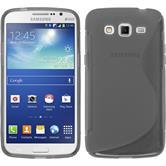 Silikon Hülle Galaxy Grand 2 S-Style grau