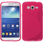 Silicone Case for Samsung Galaxy Grand 2 S-Style hot pink