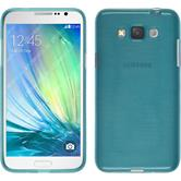 Silikon Hülle Galaxy Grand 3 brushed blau + 2 Schutzfolien