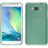 Silicone Case for Samsung Galaxy Grand 3 brushed green