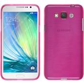 Silikon Hülle Galaxy Grand 3 brushed pink + 2 Schutzfolien