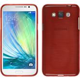 Silicone Case for Samsung Galaxy Grand 3 brushed red