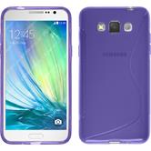 Silicone Case for Samsung Galaxy Grand 3 S-Style purple