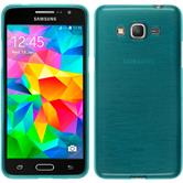 Silicone Case for Samsung Galaxy Grand Prime brushed blue