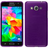 Silicone Case for Samsung Galaxy Grand Prime brushed purple