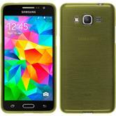 Silikon Hülle Galaxy Grand Prime brushed pastellgrün + 2 Schutzfolien