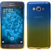Silikon Hülle Galaxy Grand Prime Plus Ombrè Design:02 + 2 Schutzfolien