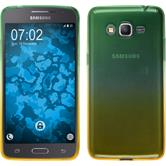 Silikon Hülle Galaxy Grand Prime Plus Ombrè Design:03 + 2 Schutzfolien