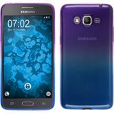 Silikon Hülle Galaxy Grand Prime Plus Ombrè Design:04 + 2 Schutzfolien