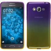 Silikon Hülle Galaxy Grand Prime Plus Ombrè Design:05 + 2 Schutzfolien